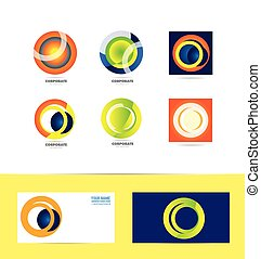 Corporate business circle logo