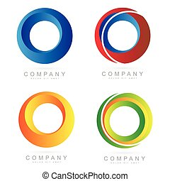 Corporate business colore logo circle icons