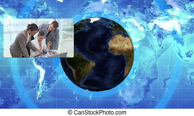 Corporate business cooperation with