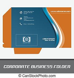 Corporate business folder, stationery template design