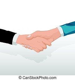 Corporate Business Handshake Concept People Vector