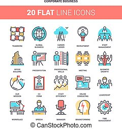 Corporate Business Icons - Vector set of corporate business ...