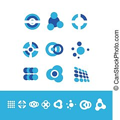 Corporate business logo set circle