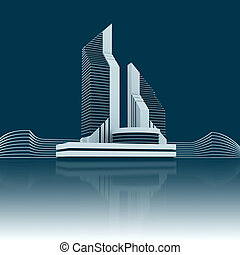Corporate Business Real Estate 3d Background