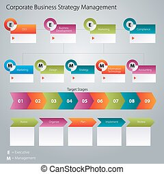 Corporate Business Strategy Management Icon