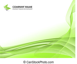 Corporate business template background - lush springtime...