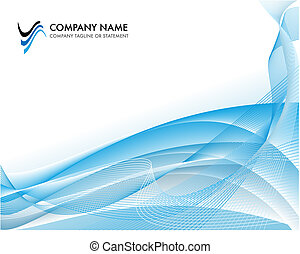 Corporate business template background - bright blue ocean...