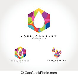 Water drop abstract logo