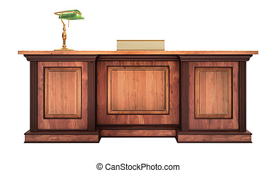 Corporate Desk - A classic styled corporate desk with ...