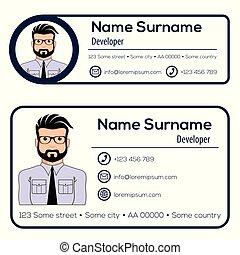 Corporate Email Signature Modern Design. Vector illustration