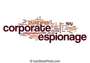 Corporate espionage word cloud