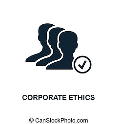 Corporate Ethics icon. Monochrome style design from business ethics icon collection. UI and UX. Pixel perfect corporate ethics icon. For web design, apps, software, print usage.
