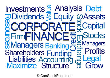 Corporate Finance Word Cloud
