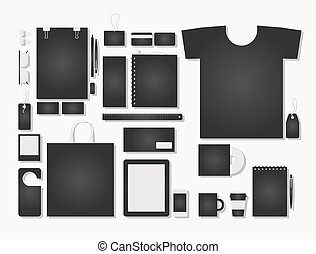 Corporate flat identity mock-up template for your design. ...