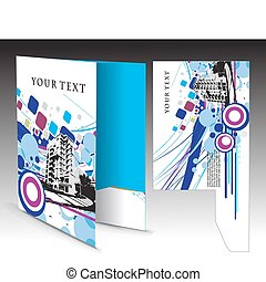 corporate folder with die cut design, best used for your...