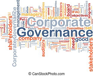 Background concept wordcloud illustration of corporate governance