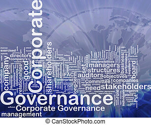 Corporate governance background concept - Background concept...