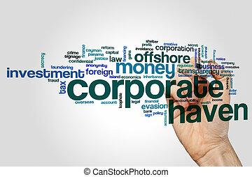 Corporate haven word cloud