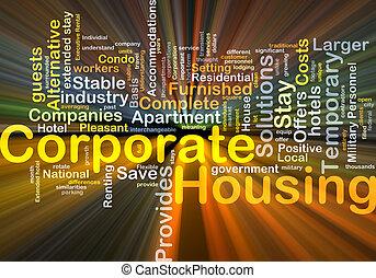 Corporate housing background concept glowing - Background...