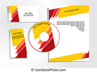 corporate identity template - vector illustration