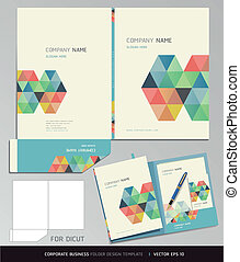 Folder Design Template. - Corporate Identity Business Set. ...