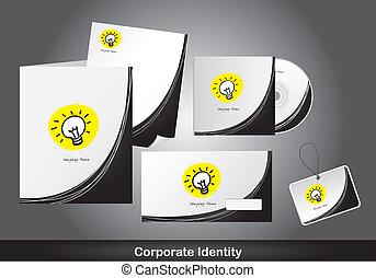 corporate identity - corporat identity with bulb electric...