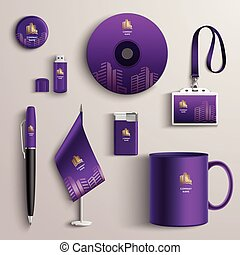Corporate Identity Design - Corporate identity purple design...