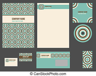 Corporate identity for company or event. Vector template for...