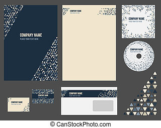 Corporate identity for company or event. Vector template for business stationery.