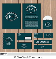 Corporate Identity new blend 111 - Creative monogram...