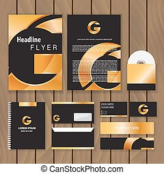 Corporate Identity new blend crop blend - Metallic gold...