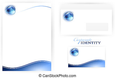 Corporate identity set - set of corporate identity templates...