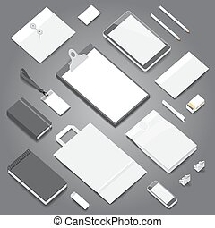 Corporate identity stationery mockup - Corporate identity...