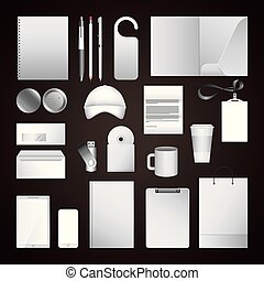 corporate identity template blank design elements business stationery