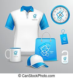 Corporate identity template - Corporate identity blue...