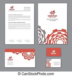 Corporate identity template for repair shop