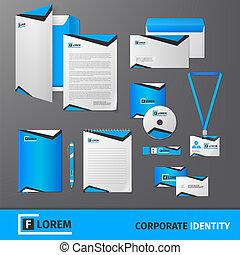 Corporate identity template - Blue geometric technology...
