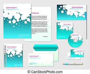 corporate identity template. Vector company style for brandbook
