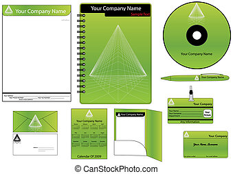 Corporate Identity Template Vector set (calendar, almanac, ...