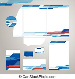 Corporate Identity Template Vector - Set of corporate...