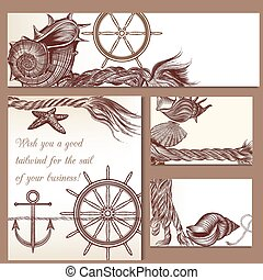 Corporate identity templates nautical theme