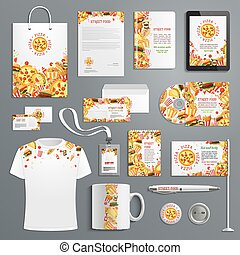 Corporate identity vector items fast food - Corporate...