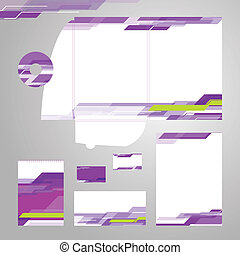 Corporate identity vector set
