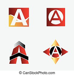 Corporate Logo A Letter company vec