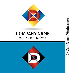 Corporate Logo D Letter company