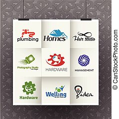 Corporate Logo Design - Set of Icons for Corporate Symbol...