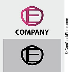 corporate logo e letter company