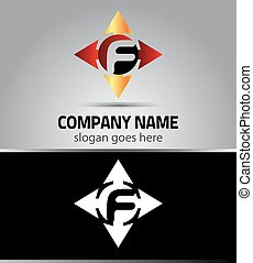 Corporate Logo F Letter company