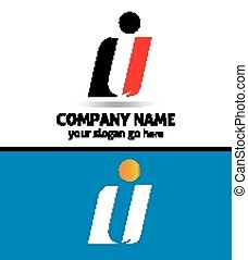 Corporate Logo i Letter company