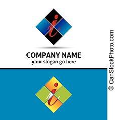 Corporate Logo i Letter company vec